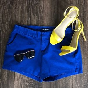 Royal Blue Structured Stretchy Shorts